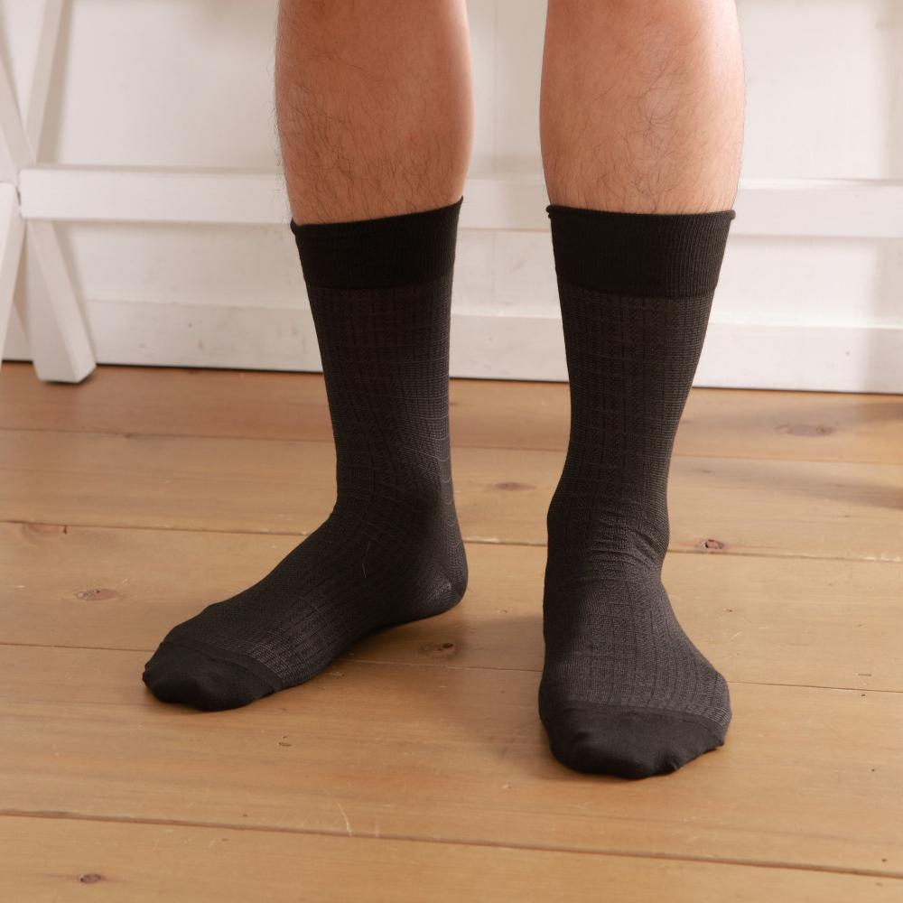 源之氣 竹炭紳士緹花襪 6雙組 RM-10034