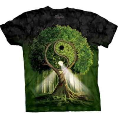 摩達客 美國進口The Mountain 自然陰陽村 純棉環保短袖T恤