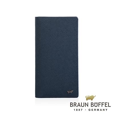 BRAUN BUFFEL - RUFINO-C洛非諾III系列15卡零錢長夾 - 午夜藍