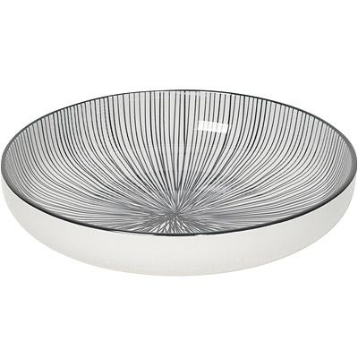 NOW 圓型深餐盤(射線黑)