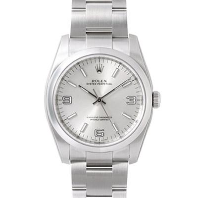 ROLEX 勞力士 Oyster Perpetual 116000 蠔式恆動腕錶-銀/36mm