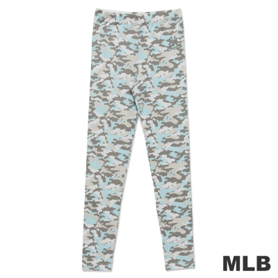 MLB-紐約洋基隊迷彩印花內搭褲-淺藍-女