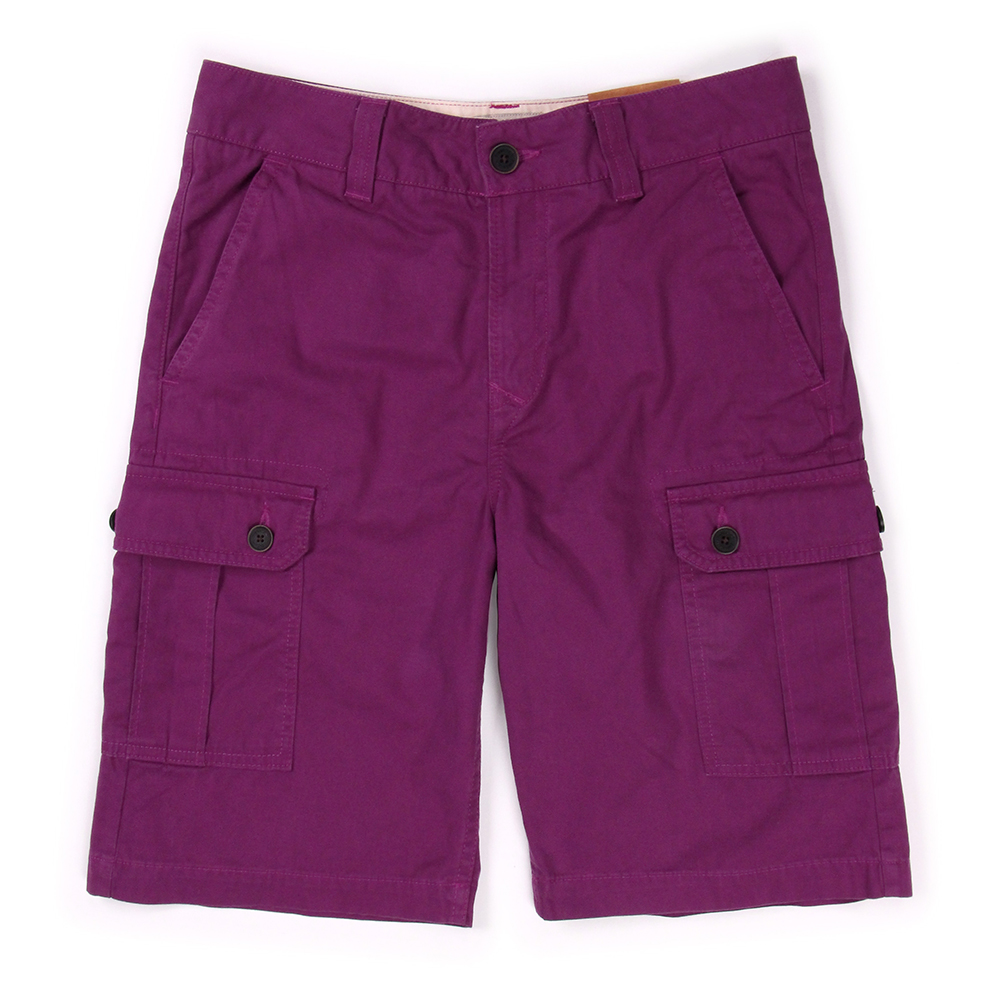 Timberland 男款紫色多口袋休閒短褲