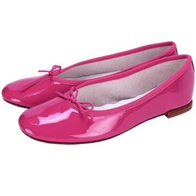Repetto Cendrillon Alta 漆皮蝴蝶結芭蕾舞鞋(桃紅色)