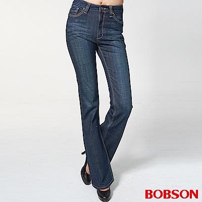 BOBSON 女款鑽飾喇叭褲