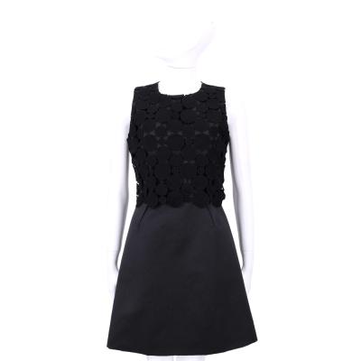 Max Mara-Shine  黑色圓點設計無袖洋裝