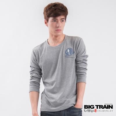 BIG TRAIN-千羽鶴波印花TEE-灰