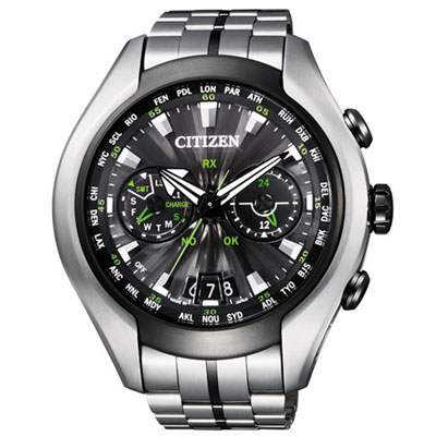 CITIZEN 現代科技風光動能GPS電波錶(CC 1054 - 56 E)- 49 mm