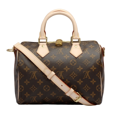 LV M41113 經典Monogram SPEEDY 25 手提/斜背波士頓包