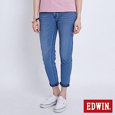 EDWIN JERSEYS迦績涼感 AB牛仔褲-女-石洗藍