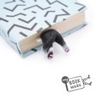 禮物myBookmark手工書籤-肉球腳丫小黑貓