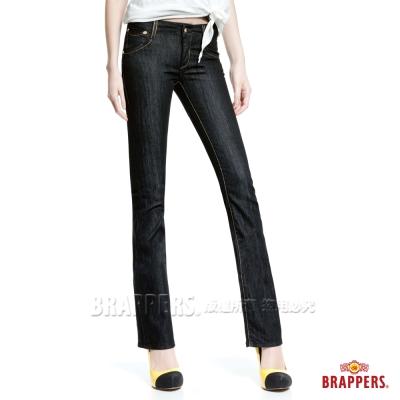 BRAPPERS 女款 新美腳Royal系列-女用彈性鑲鑽小喇叭褲-黑