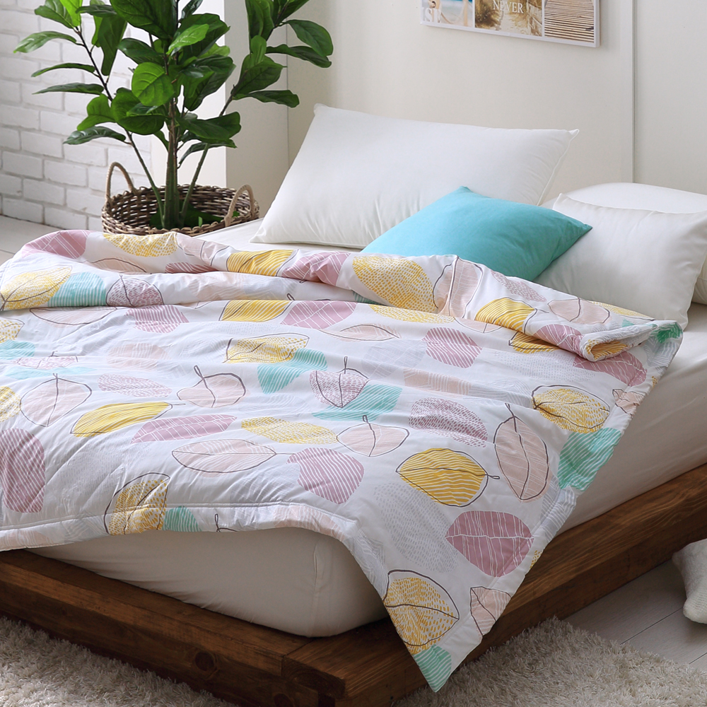 Cozy inn 彩葉-200織精梳棉-涼被(6X7尺)