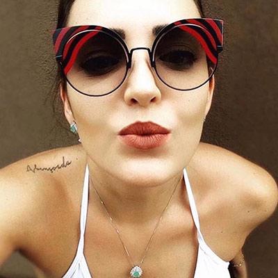 FENDI 廣告主打 太陽眼鏡 (深藍色)FF0215S