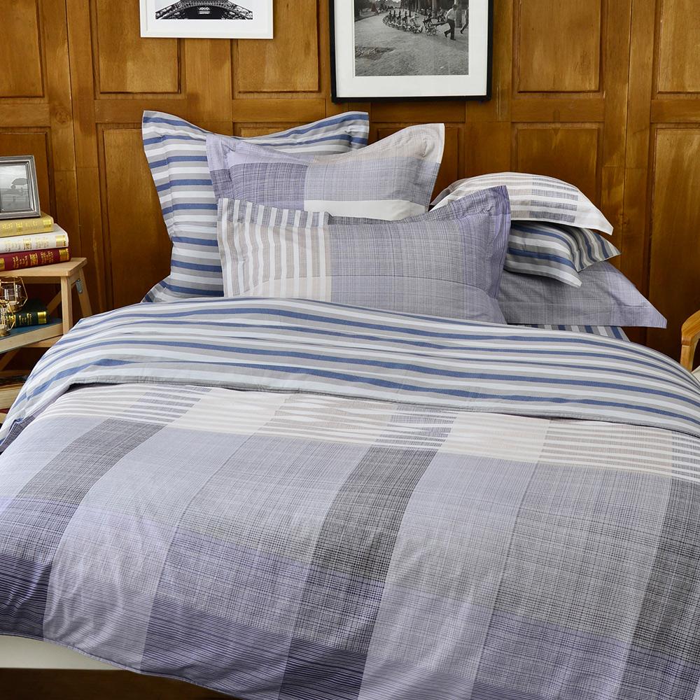 義大利La Belle 紳士物語 雙人純棉床包枕套組