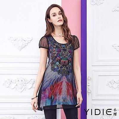 YIDIE衣蝶 假兩件式彩色玻璃教堂上衣