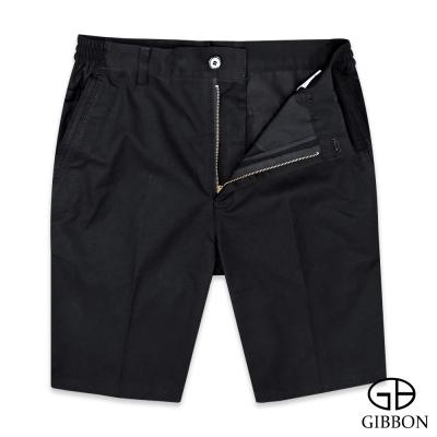 GIBBON 彈性舒適斜紋休閒短褲‧黑色M-3XL