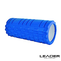 Leader X 專業塑身美體瑜珈棒 滾筒 按摩輪 寶藍色