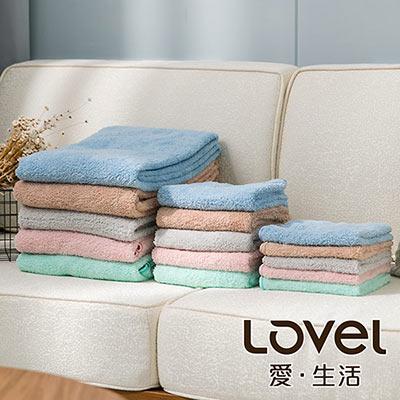 Lovel 頂極輕柔棉超細纖維三件組(浴巾+毛巾+方巾)