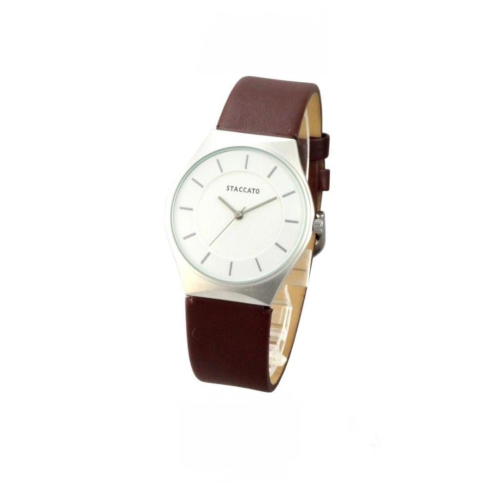 STACCATO 極光柔情簡約時尚腕錶-白/32mm
