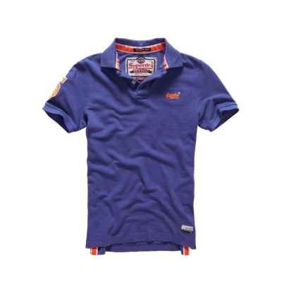 SUPERDRY 極度乾燥 短袖 POLO 紫色