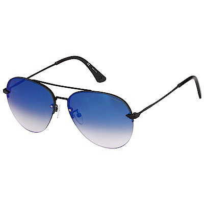 POLICE 水銀面太陽眼鏡 (霧面黑)SPL461G
