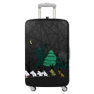 LOQI 行李箱保護套-Moomin森林(M號 適用22-27吋行李箱)