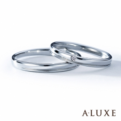 A-LUXE 亞立詩 The vow 鉑金 結婚戒指-男女對戒