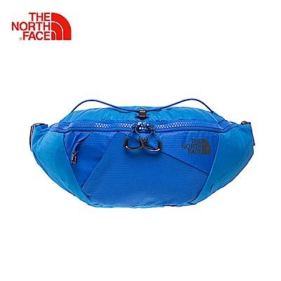 The North Face北面男女款藍色便捷戶外運動通用腰包