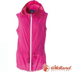 Wildland 荒野 0A51791-17嫣紅 女 抗UV輕薄時尚背心 防曬透氣