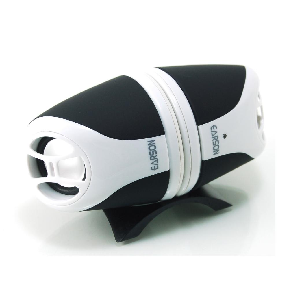 EARSON 攜帶型2件式多媒體電腦喇叭 ER-1009 黑色