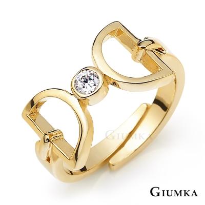 GIUMKA 韓貨 鏤空蝴蝶結關節開口戒指-金色