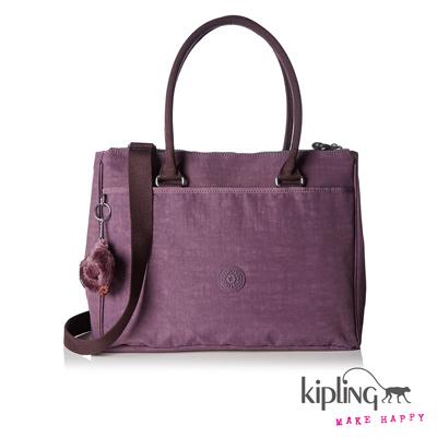 Kipling-手提斜背包羅蘭紫素面