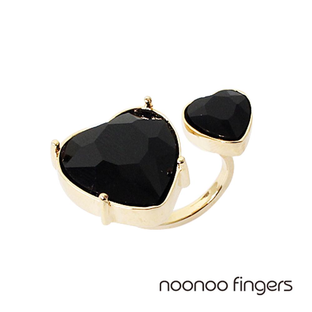 Noonoo Fingers Queen of Hearts皇后的心和黑色愛心戒指