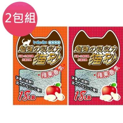 寵物物語 固的喵砂 蘋果香芬系列18L (兩包組)