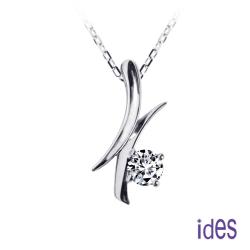 ides愛蒂思 精選30分 E/VS1八心八箭完美車工鑽石項鍊/簡約線條