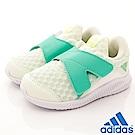 adidas童鞋 大網洞透氣學步鞋 MEI242綠(小童段)