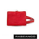 RABEANCO 時尚系列牛皮名片證件套 石榴紅