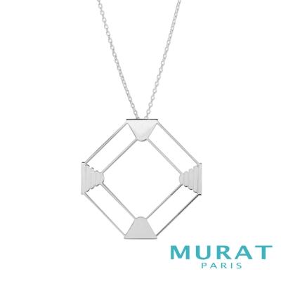 MURAT Paris米哈巴黎 摩登鏤空菱形項鍊