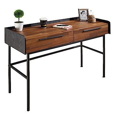 AT HOME - 畢卡索4尺雙色二抽書桌 120x45x75cm