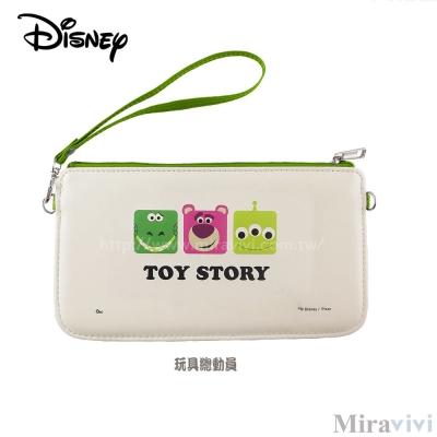Disney迪士尼皮質橫式手機袋/萬用包/手腕袋_方塊系列_玩具總動員