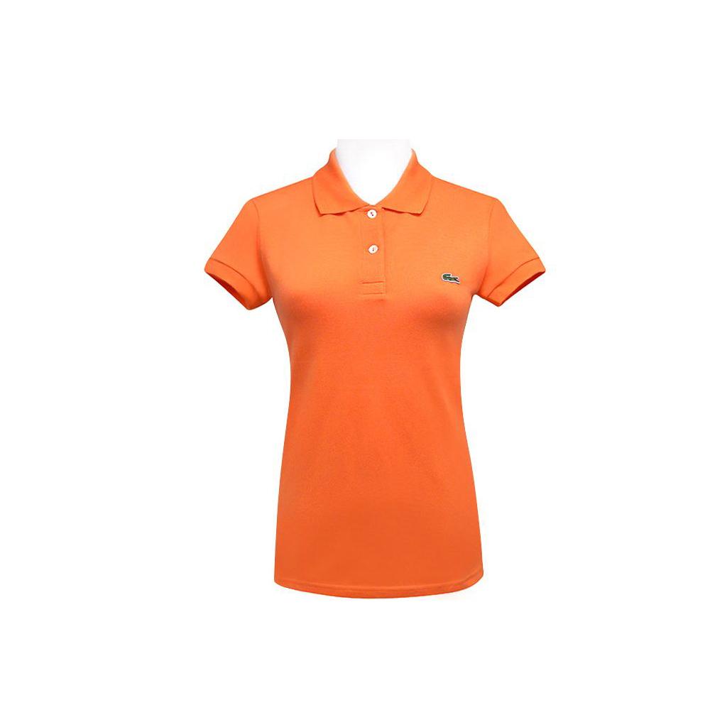LACOSTE 橙色鱷魚標誌短袖POLO衫(10-12歲)