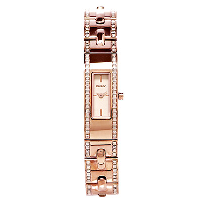 DKNY  奢華氣息鑲鑽女性手錶(NY2176)-玫瑰金面X玫瑰金/13mm