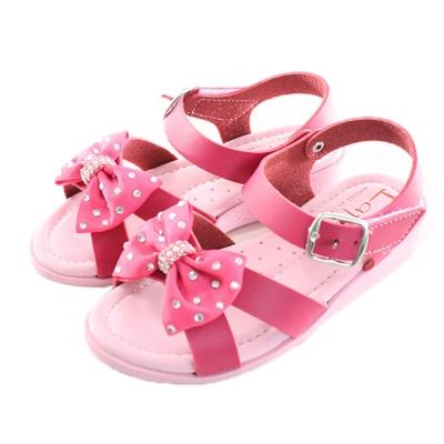 蝴蝶結魔鬼貼俏麗涼鞋 桃紅 sk0123 魔法Baby