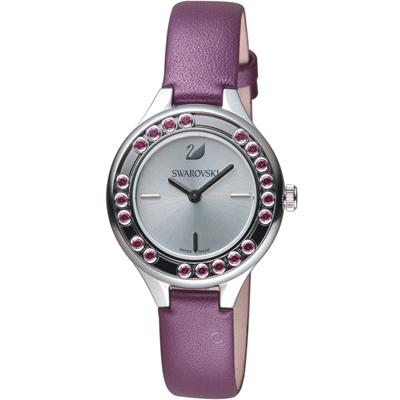 施華洛世奇SWAROVSKI Lovely Crystals Mini飄鑽魅力腕錶-紫色