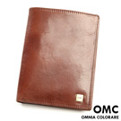 OMC - 韓國原皮魅力真皮款多卡式護照夾