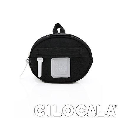CILOCALA 亮彩尼龍防潑水MINI TAMAGO側背包(迷你)  黑色