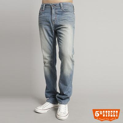 5th-STREET-粗曠印象-1965直筒牛仔褲-男款-石洗藍