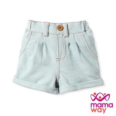 【Mamaway】Baby 柔軟休閒短褲(天空藍)