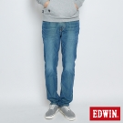 EDWIN 迦績褲JERSEYS黑腰頭中直筒褲-男-中古藍